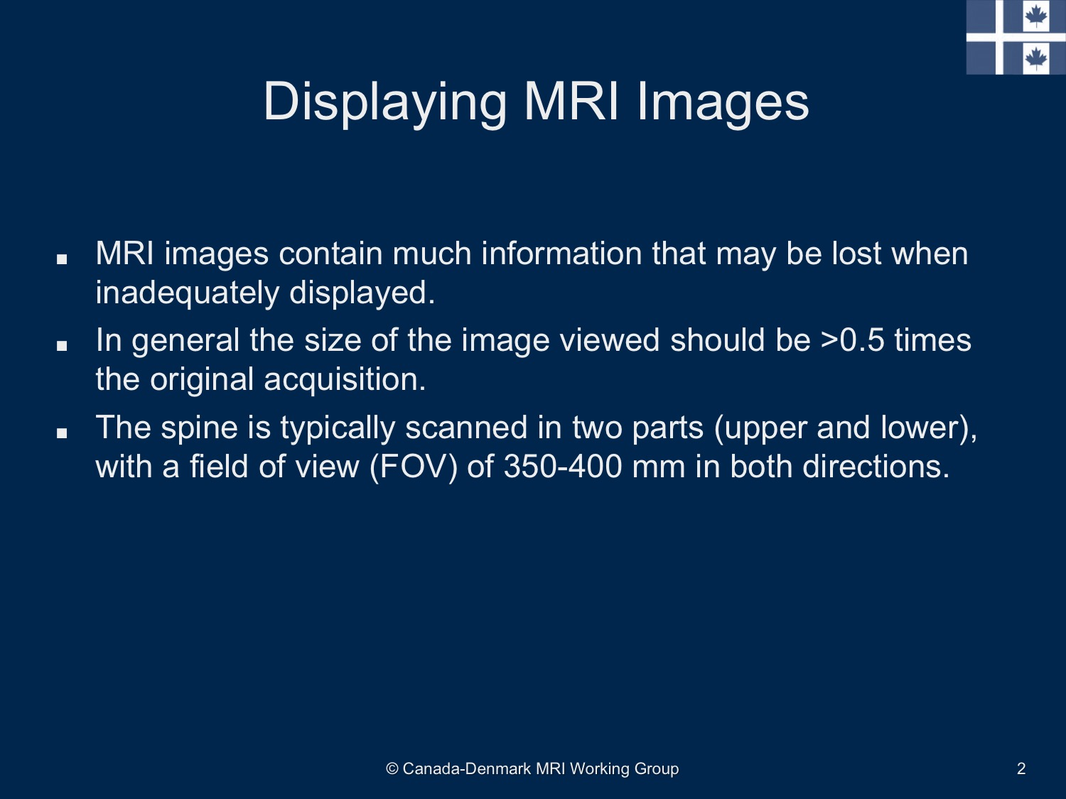 Reference Images for Spinal Fat Lesions Slide